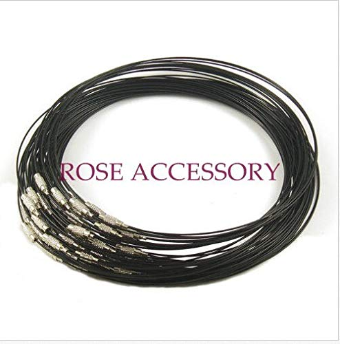 Cord Necklace Wholesale 10pcs/lot 1mm Steel Wire Cable Cord Rope Chain Choker Necklace Jewelry DIY Cords Findings 18