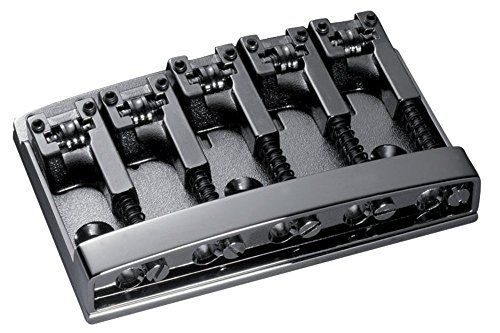 Shaller Bass Bridge Black Chrome - 3D-5 Model - 5 string by Schaller