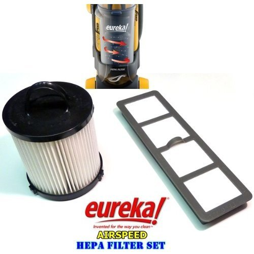 Eureka AirSpeed Bagless Upright HEPA Filter Replacement Set. (Original Version)
