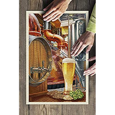 The Art of Beer - Brewery Scene (Premium 500 Piece Jigsaw Puzzle for Adults, 13x19, Made in USA!): Toys & Games