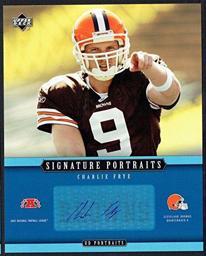 Charlie Frye #SP-49 signed autograph auto 2005 Upper Deck 8x10 Portraits