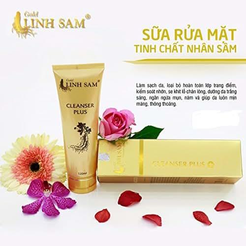 04 Boxes 120ml - SỮA RỬA MẶT Tinh Chất Nhân Sâm, NGỪA MỤN Gold Linh Sam - CLEANSER PLUS Golden Ginseng