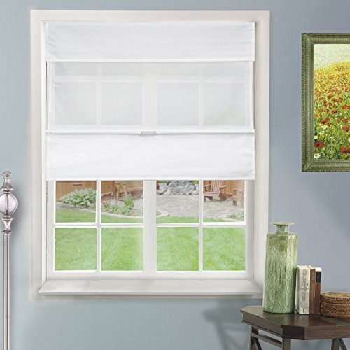 (Chicology Cordless Magnetic Roman Shades / Window Blind Fabric Curtain Drape, Light Filtering, Privacy - Daily White, 31