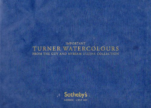Important Turner Watercolours from the Guy and Myriam Ullens Collection