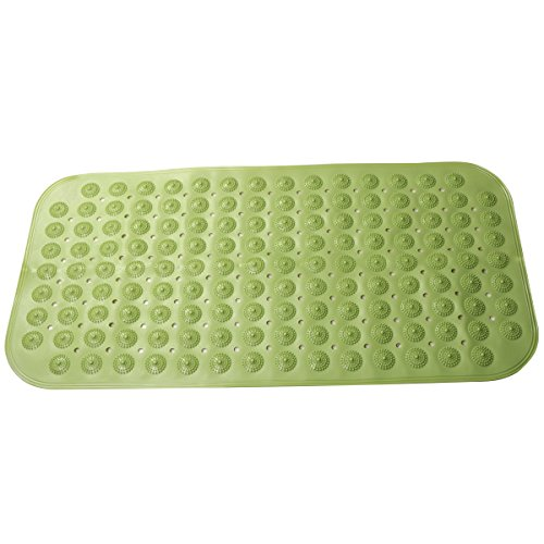 Anti-skid PVC Bathroom Mat Skin-friendly Massage with Grip Suction Cup for Shower or Tub by Mikimiqi