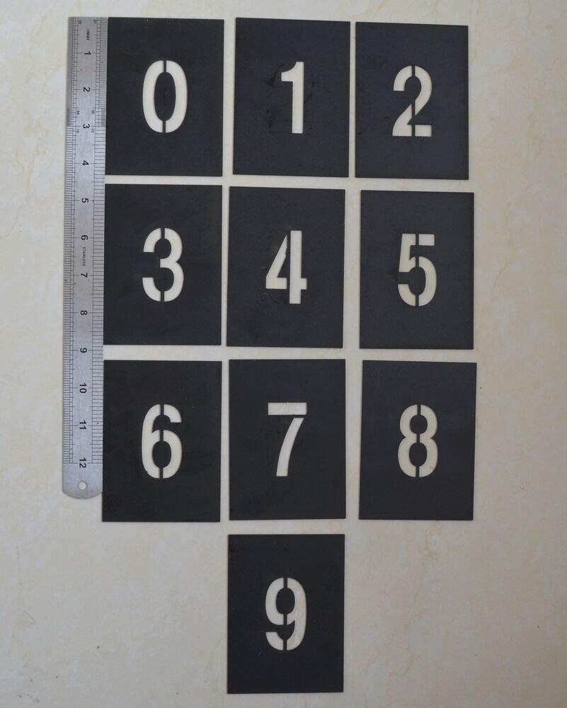 PVC Plantilla para estarcir Letras del Alfabeto A-Z n/úmero 0-9 Varios tama/ños Number 0-9 Height: 5cm FidgetGear