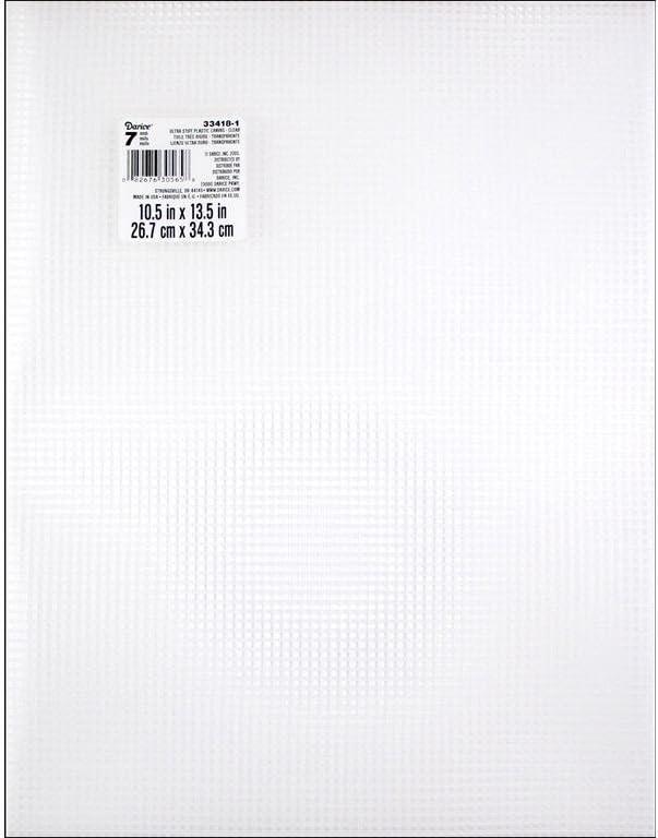 Darice DIY Crafts #7 Mesh Plastic Canvas Ultra Stiff Clear 10-1//2 x 13-1//2 33418-1 6-Pack Bulk Buy