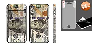 Combo pack Cellet $100 Bill 02 Skin for iPhone 4/4S And Anti-grease LCD Screen Protector/Clear for Apple iPhone 4 (AT&T), Apple iPhone 4 (Verizon)