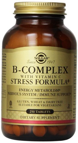 Solgar B-Complex with Vitamin C Stress Formula Tablets - 250 Tablets (Pack of 3) by Solgar