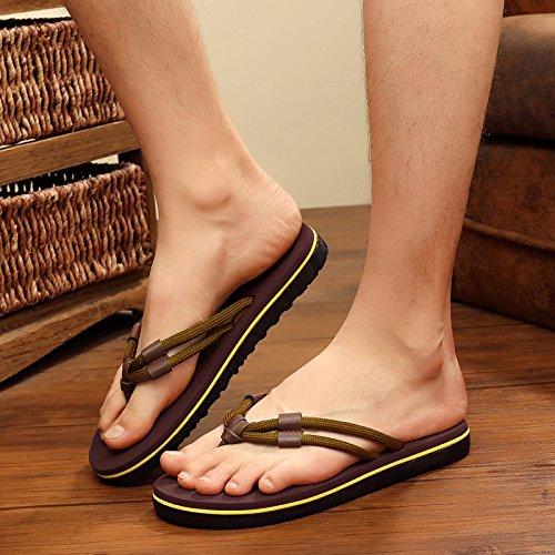 fresca marrone ciabatte 43 sandali spiaggia antiscivolo sandali fankou estate uomini uomini outdoor tide personalizzata FdZOgw