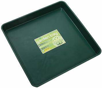 G45G bandeja cuadrada Garden verde 60 cm L x 60 cm W x 7 cm D