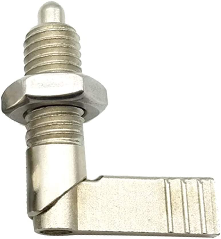 Almencla Edelstahl Rastbolzen Arretierbolzen Silber L-Typ Korrosionsschutz M10-4