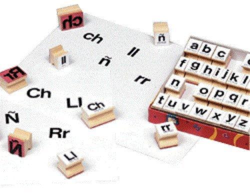 Center Enterprise CE858S Lowercase Manuscript Spanish Alphabet Stamp, ()