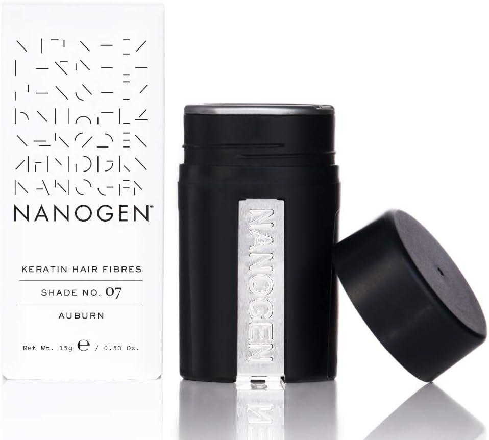 Nanogen Fibras Capilares Queratina: Castaño Oscuro 30 gr: Amazon ...