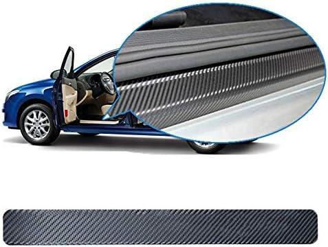 SNOMYRS Auto deur Drempel Entry Guards Scratch Cover Protector Carbon Rubber Auto Deur Guard Krasbescherming Strip breedte3 CM long5M