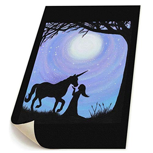 A Girl and Her Unicorn Silhouettel Unframed Prints On Canvas Art Painting Picture Wall Decor Cartoon Pictures for Living Room Home Decorations 9