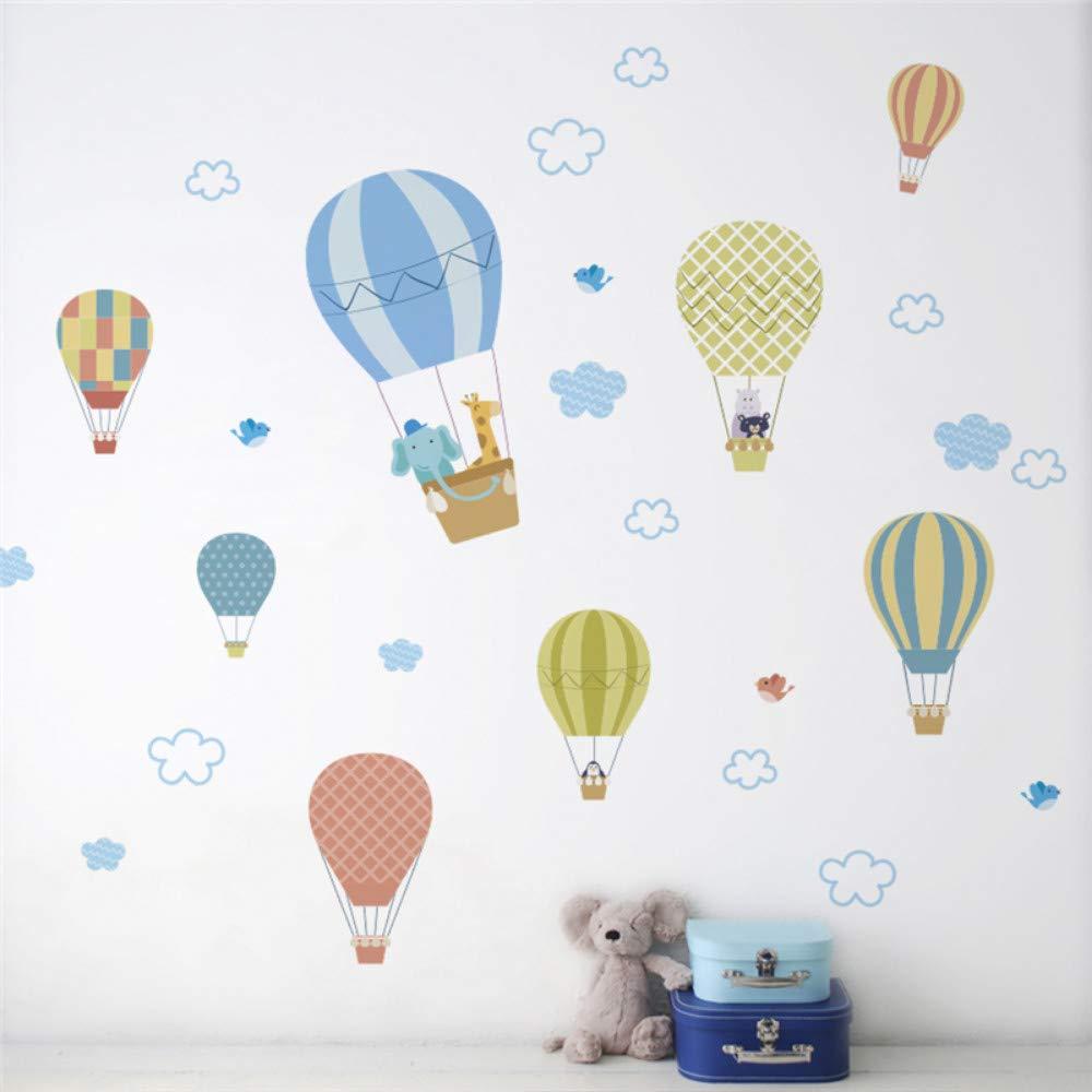 Globos de aire caliente 30X90 cm Pegatinas de Pared Para Habitaciones de Ni/ños Decoraci/ón para el Hogar Animales de Dibujos Animados Tatuajes de Pared Arte Mural Diy Wallpaper