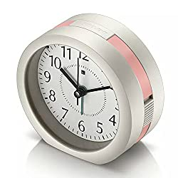 Alarm Clock, HQOON Cool Snooze Loud Wake Up Alarm Clocks for Bedrooms with Soft Night Light, Office Desk Cube Alarm Clock Battery Operated Best Gift for Kids, Family and Friend (Pink)