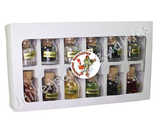- Mini Gemstone Bottles - 12 Pack