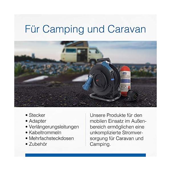 51eh2tV%2BvfL as - Schwabe CEE-Anbaudose Caravan – 230 V / 16 A Outdoor Anbau-Steckdose mit Klappdeckel – 3-polige Dose für Wohnwagen…