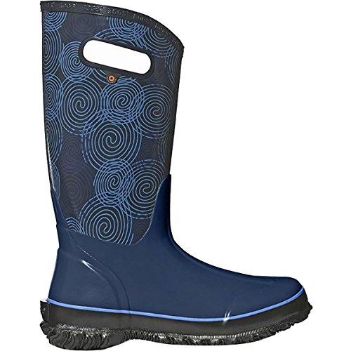 Bogs Womens Berkley Solid Rain Boot Blu Scuro / Multi