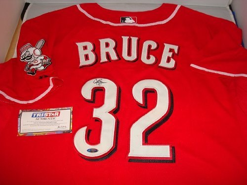 Jay Bruce Signed Cincinnati Reds Red Jersey, Tristar