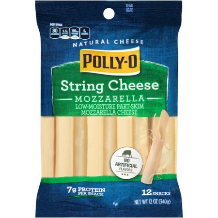 KRAFT CHEESE POLLY-O STRING MOZZARELLA 12 OZ PACK OF (Mozzarella String Cheese)