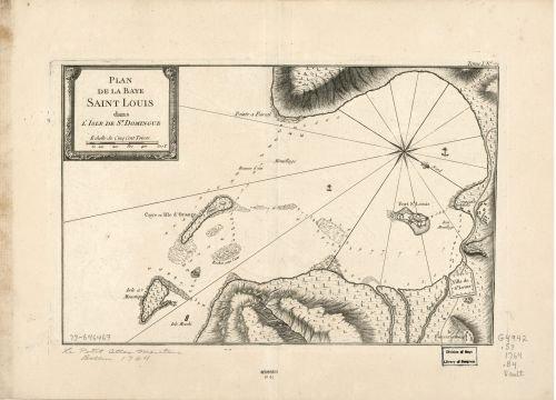 Map of Plan de la Baye Saint Louis dans l'isle de St. Domingue. Haiti|Saint Louis Bay|Haiti|Saint Louis Bay|Early s|Haiti|Saint Louis Bay|Saint Louis Bay, Haiti