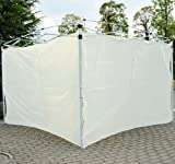 Outsunny Pop Up Tent Replacement Side / End Wall – 2 PACK – Cream, Outdoor Stuffs