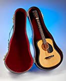 MattsGlobal Collectible Authentic Look Wood and Metal Miniature Replica Instruments (Acoustic Guitar)
