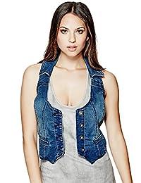 G by GUESS Women's Sherri Knit Denim Vest