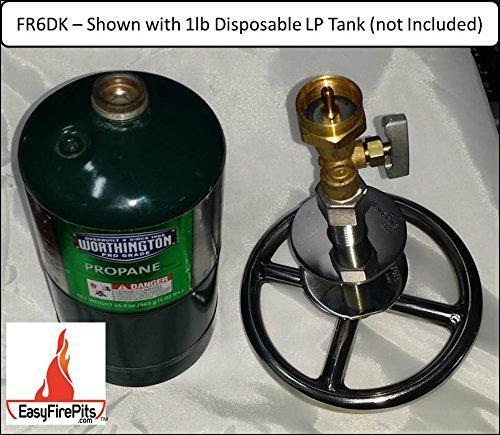Adjustable High Pressure Regulator for Portable Disposable LP 1LB Camping Tanks x 1//2 Female Connection from EasyFirePits.com REGDTA Propane