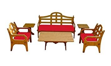 6 Piece Bamboo Sofa Set (1 Sofa, 2 Lounge Chairs, 1 Cocktail