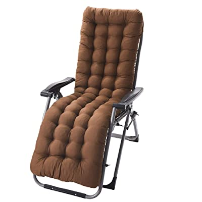 SNAFUL Lounge Chair Cushion Indoor Outdoor, Rocking Chair Cushion Thicken for Home Office Indoor Outdoor Decoration (Brown): Kitchen & Dining