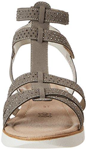 Remonte Women's D3954 Gladiator Sandals, Grey, 5 UK Grey (Staub/42)