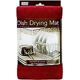 ": Kitchen Basics Dish Drying Mat - Red - 16""x 18"""