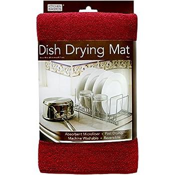 "Kitchen Basics Dish Drying Mat - Red - 16""x 18"""