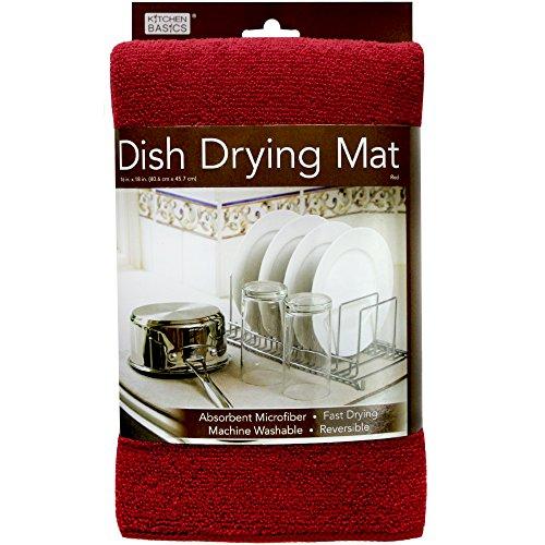 Kitchen Basics Dish Drying Mat - Red - 16
