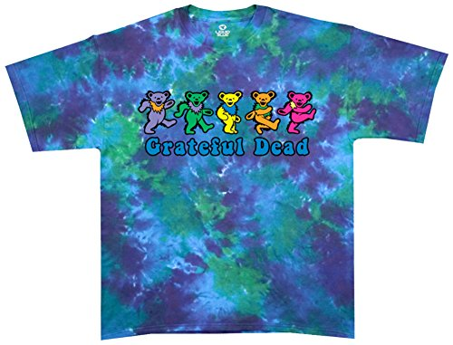 Liquid Blue Men's Grateful Dead Dancing Bear T-Shirt, Multi, Small