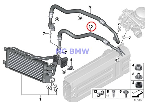 BMW Genuine Engine Oil Cooler Line Return Engine Oil Cooler Pipe X1 35iX 335i 335xi 335i 335xi 335i 335xi 335i 335is 335xi 335i 335i 335is