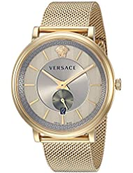 Versace Mens MANIFESTO EDITION Swiss Quartz Stainless Steel Casual Watch, Color:Silver-Toned (Model: VBQ070017)