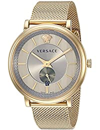 Men's 'MANIFESTO EDITION' Swiss Quartz Stainless Steel Casual Watch, Color:Silver-Toned (Model: VBQ070017)