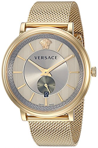 Versace Men's 'Manifesto Edition' Swiss Quartz Stainless Steel Casual Watch, Color:Silver-Toned (Model: VBQ070017)