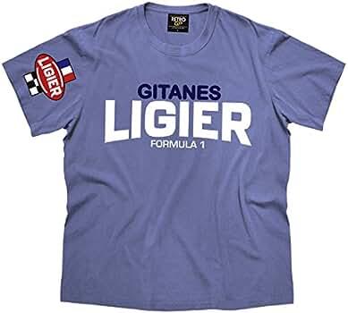Retro Fórmula 1 Historic Ligier Grand Prix Camiseta 100% algodón Azul azul claro 54: Amazon.es: Ropa y accesorios