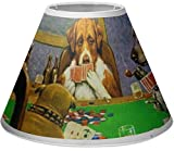 RNK Shops Dogs Playing Poker by C.M.Coolidge Empire Lamp Shade