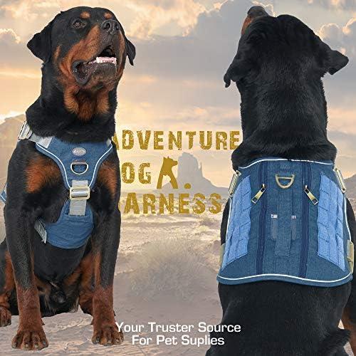 Auroth - Arnés táctico para perro, sin tirar, ajustable, arnés reflectante K9 de entrenamiento de trabajo para mascotas, servicio militar, arnés para perro, fácil control para perros pequeños, medianos y grandes 4
