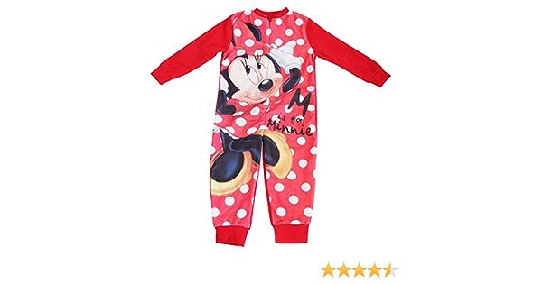 Disney - Pijama entero / mono polar de Minnie Mouse para niñas