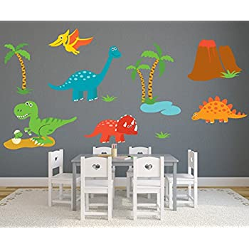 Dinosaur Theme Wall Decal   Nursery Wall Decals   Baby Room Wall Decor   Dinosaur  Stickers Part 44