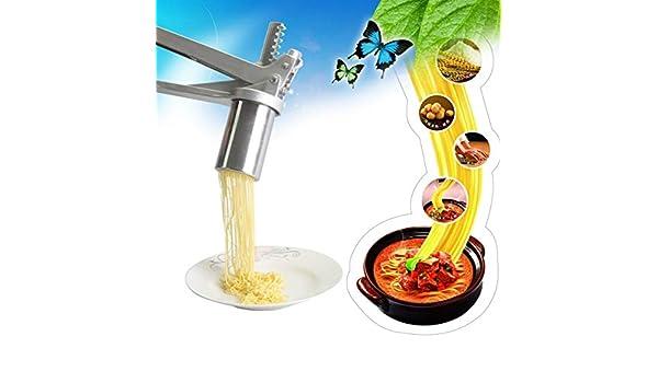 Compra Pasta Profesional Fabricante de la máquina Acero Inoxidable Fabricante de tallarines de Las pastas de Frutas Exprimidor Prensa Espaguetis Robot de Cocina Fresca Cortador en Amazon.es