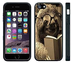 Apple iPhone 6 Black Rubber Silicone Case - Dolla Dolla Bill Sloth Professor Sloth